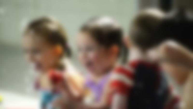 Kids in swimming pool at GL1 in Gloucester