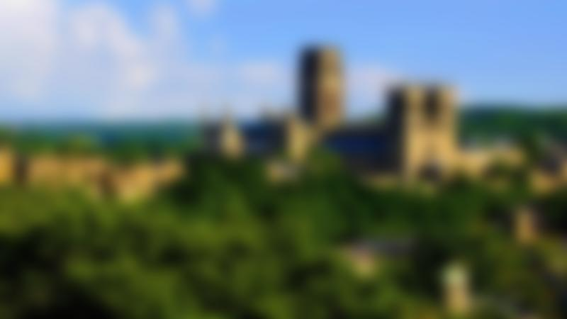 Hilltop view of Durham Cathedral