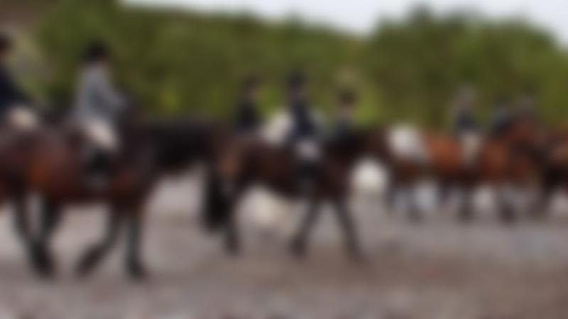 People riding horses at Matchmoor Riding Centre in Bolton