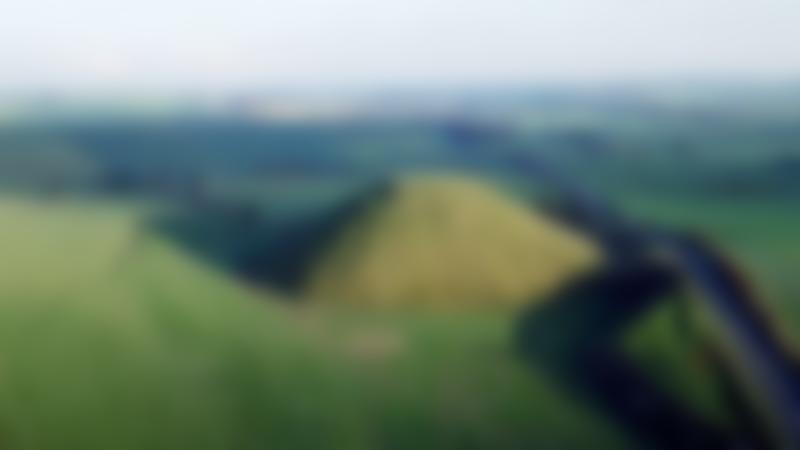 Aerial view of Silbury Hill in Marlborough