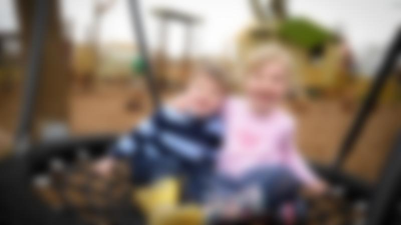 Kids on swing at Willows Activity Farm in St Albans