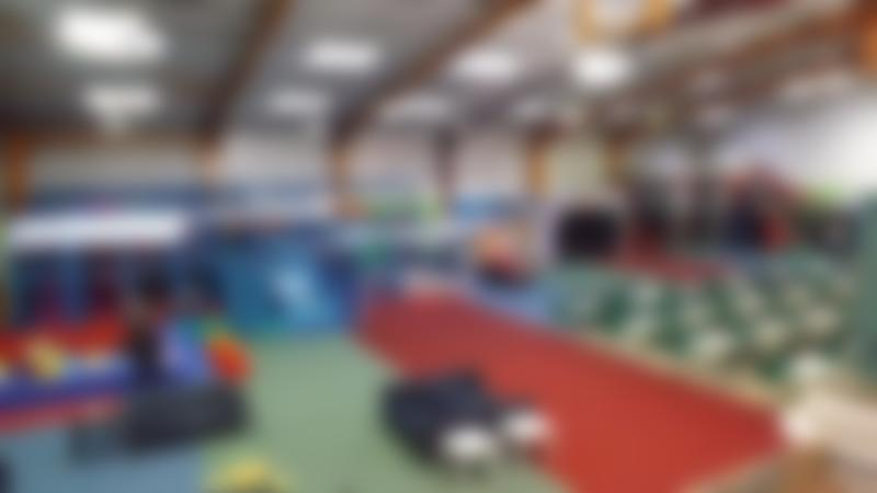 Indoor soft play and cafe area at Dragons Den Playcentre in Llangollen