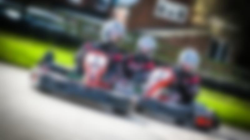 Kids on go karts at Whilton Mill in Daventry