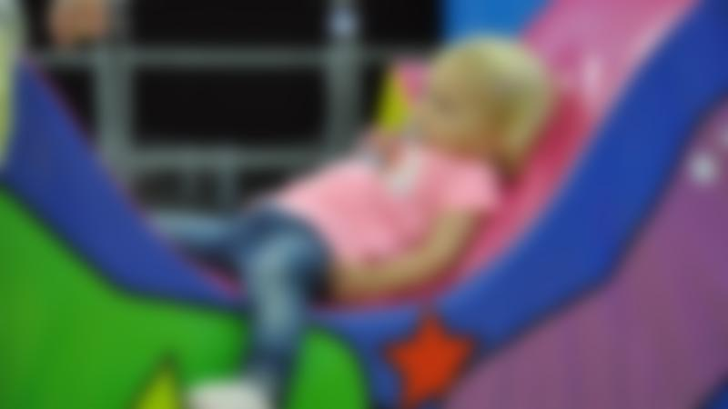 Girl in soft play area at Yarborough Leisure Centre in Lincoln