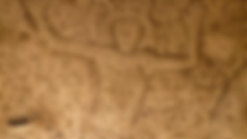 Carving on wall at Royston Cave