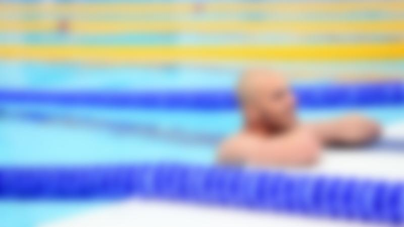 Man in swimming pool at Hillingdon Sports and Leisure Complex in Uxbridge
