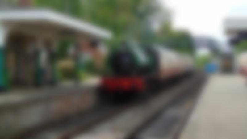 Train at Colne Valley Railway in Castle Hedingham