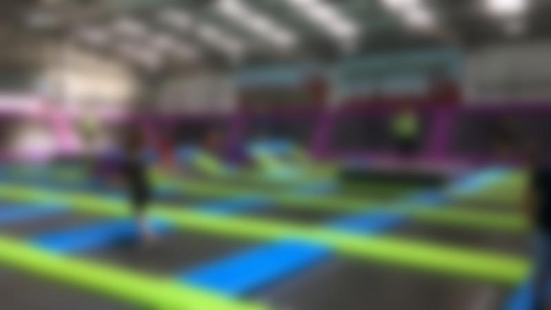 People jumping on trampolines at Sky High Trampoline Park in Peacehaven