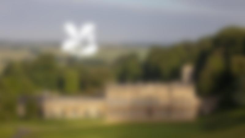 Outside view country house at Dyrham Park