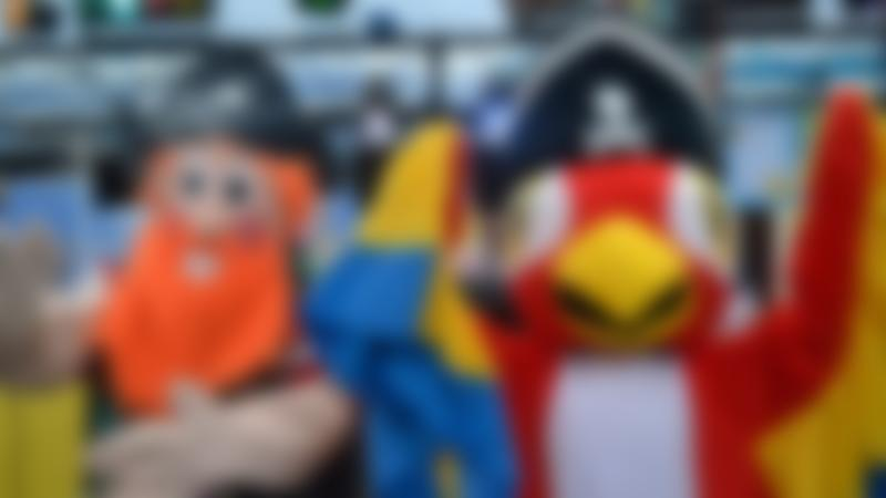 Mascots at Jolly Roger Adventure in Swindon