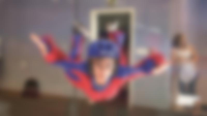 Kid flying at iFLY Indoor Skydiving