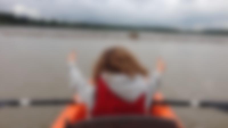 Girl on Canoe at Iken Canoe in Woodbridge