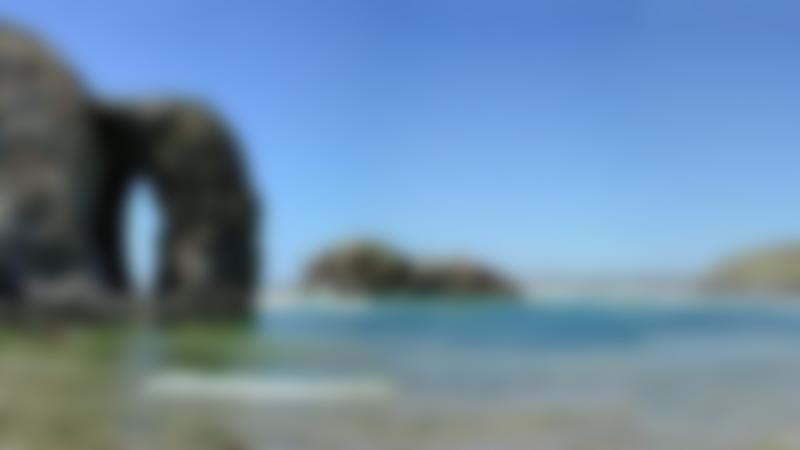 Wide shot of Perranporth Beach