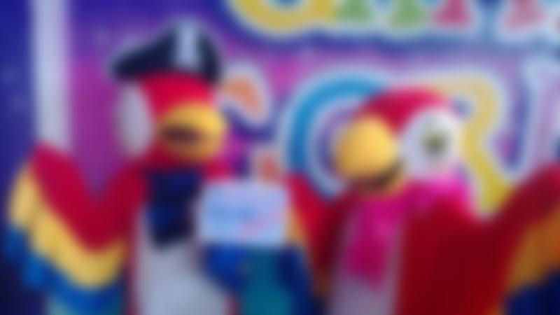 Bird mascots at Crazy Corner in Stockton on Tees