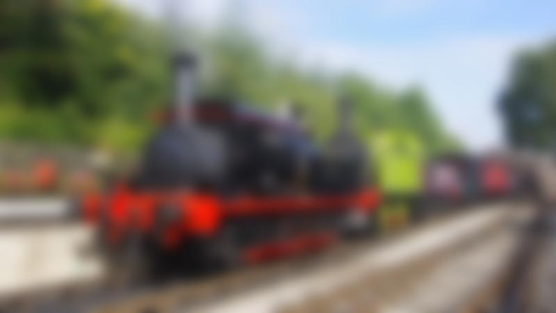 Steam train at Middleton Railway in Leeds