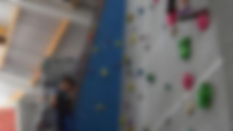 Kids climbing at Evesham Leisure Centre Climbing Wall