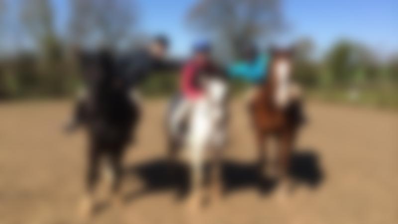 Girls on horses at Country Treks Equestrian Centre in Kidderminster
