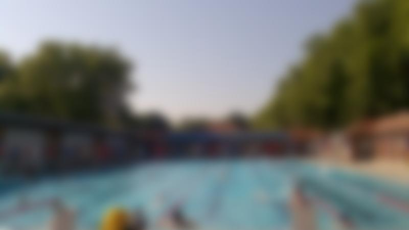 Outdoor swimming pool at London Fields Lido in Hackney