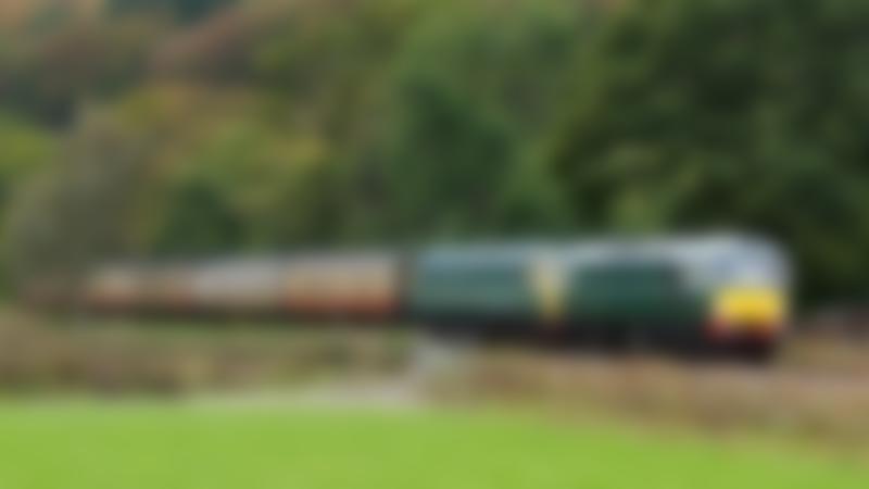 Auto train in Glyndyfrdwy at Llangollen Railway