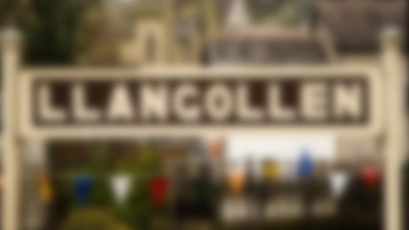 Sign for Llangollen Railway