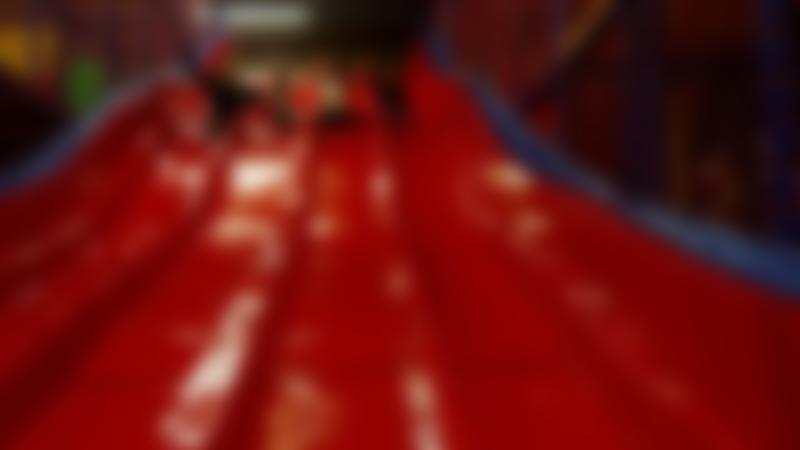 Girls on slide at Fun 2 Play in Thetford