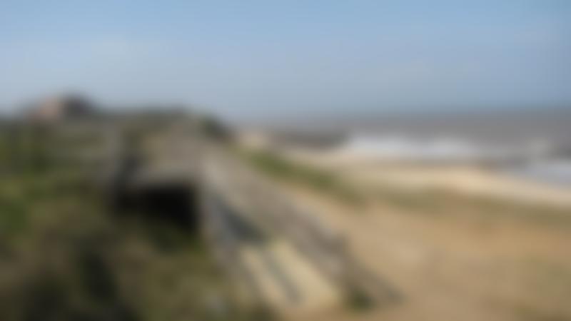 A view of Bacton Beach, Bacton