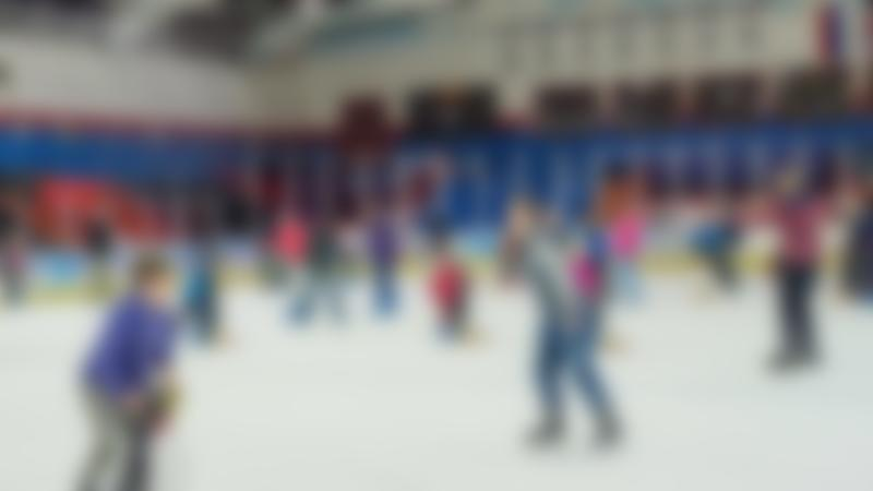Families ice skating at Planet Ice Arena Peterborough
