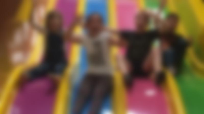 Kids on slide at Kidabulous in Sunbury