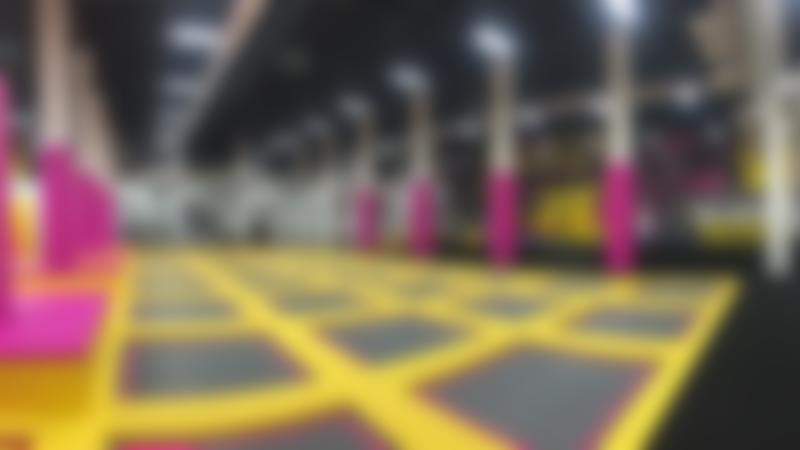 The trampolines at Boost Trampoline Park in Leicester