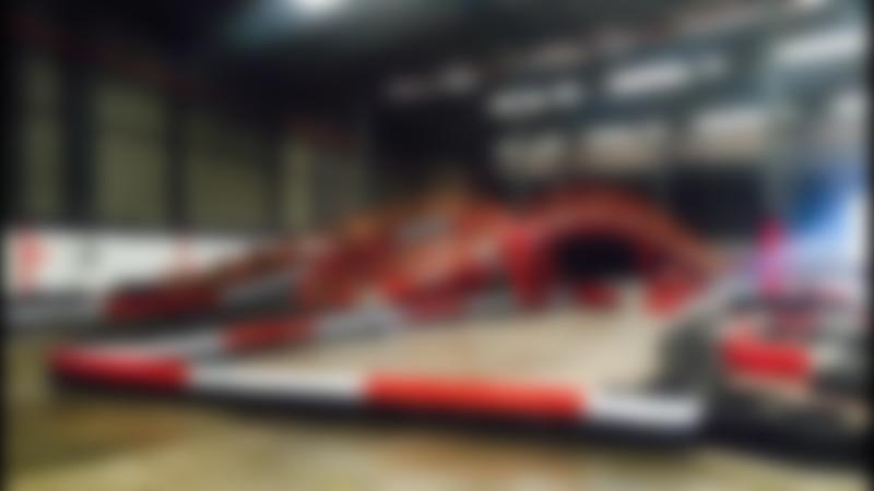 Indoor race track at Avago Karting Swinton in Mexborough