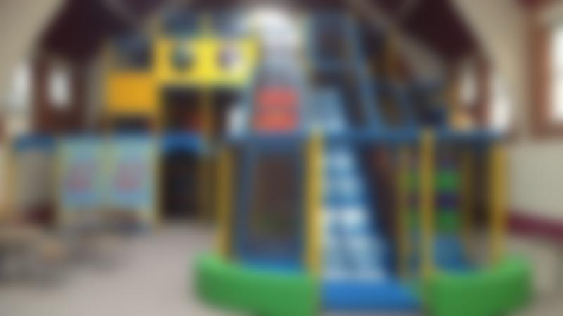 Indoor soft play frame and slide at Pirates Play Centre in Nottingham