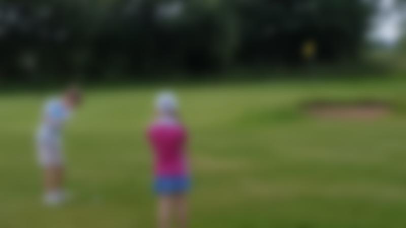 Kids playing golf at Stonham Barns Crazy Golf in Aspall