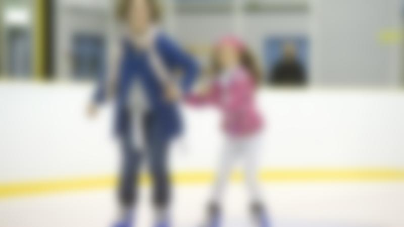A family skating at Lee Valley Ice Centre