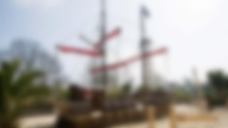 Pirate ship in Princess Diana Memorial Playground in Kensington