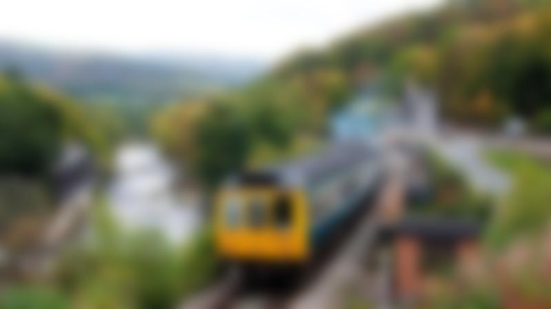 Train at Llangollen Railway station