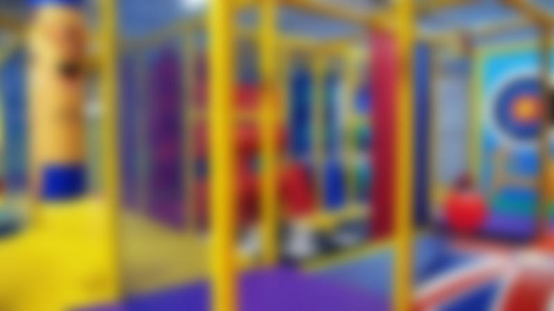 Inside soft play frame at 360 Play in Milton Keynes