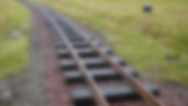 Train tracks at The Leadhills and Wanlockhead Railway