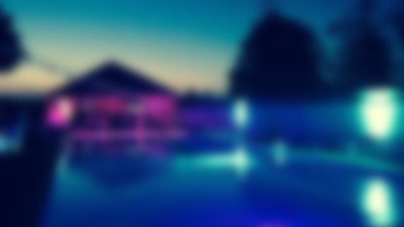 Outdoor swimming pool at Woburn Open Air Swimming Pool at night
