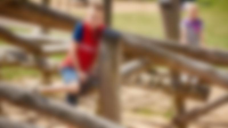 Kids on Adventure Playground at Great Notley Discovery Centre and Park in Braintree