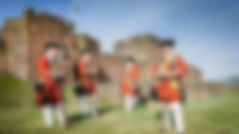 Red coat officers at Carlisle Castle