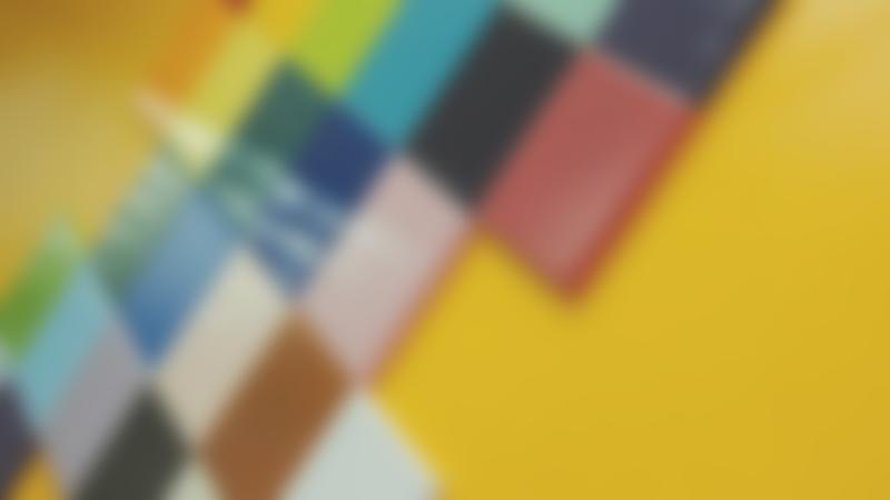 Coloured ceramics at Rainbows Ceramics Painting Studio in York