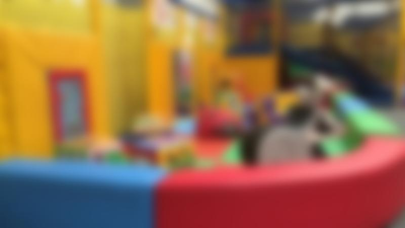 Toddler soft play area at Slide and Seek in Hyde