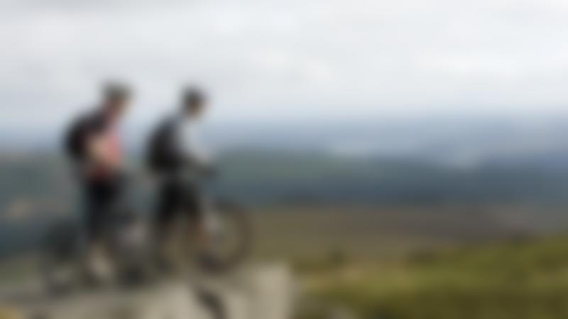 Cyclists at The Bike Place in Kielder