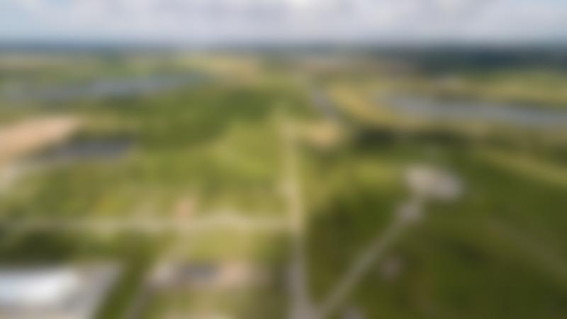 Aerial view of landscape of The National Memorial Arboretum in Burton on Trent
