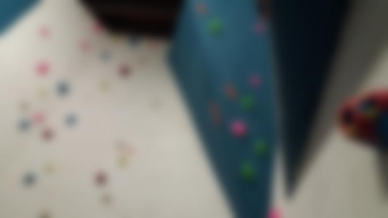 Climbing wall at The Overhang Indoor Climbing Centre in Tenby