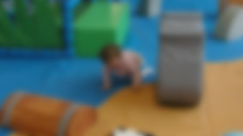 Toddler playing at Captains Cove Adventure Centre in Grimsby