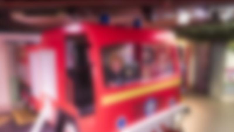 Boy in fire engine at Mattel Play! Liverpool