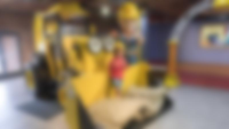 Boy with Bob the Builder at Mattel Play! Liverpool