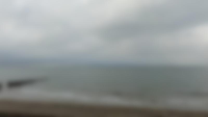 A view of the sea at Walcott Beach, Walcott