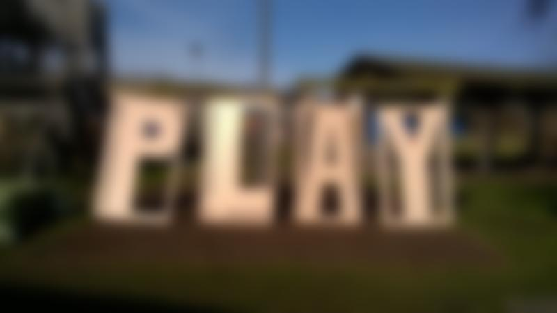 PLAY sign at Blacon Adventure Playground in Chester